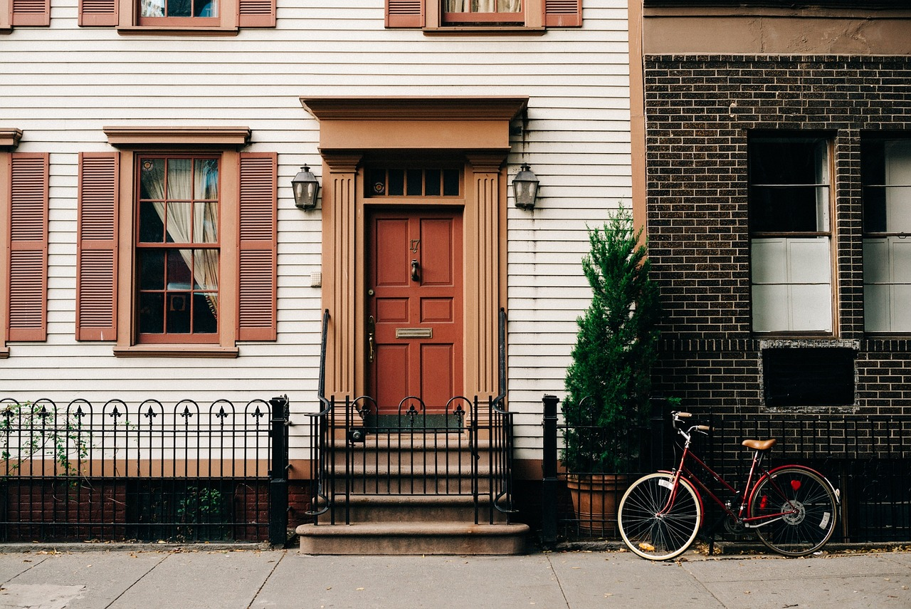 Bicicletas frente edificio