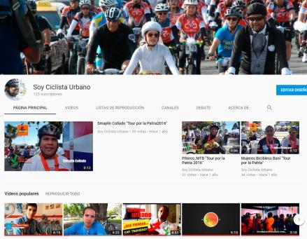 Canal de Youtube Soy Ciclista Urbano sobre el Ciclismo Urbano en Santo Domingo