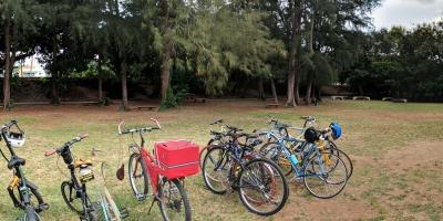 Ciclistas Urbanos en santo domingo en el Mirador sur en el primer bici picnic