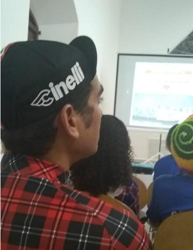 Mesa de debate sobre Ciclismo urbano en el Centro Cultural de España en Santo Domingo